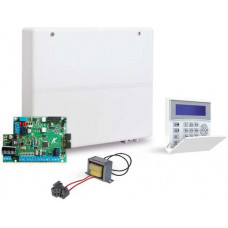 Trung tâm báo động 4 vùng có dây, két nối qua mạng lan model AMC-KIT4IP Hỗ trợ điều khiển qua điện thoại bằng phần mềm