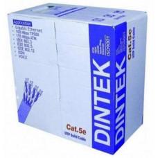 Cáp mạng CAT.5e FTP, 4 pair, 24AWG, Bọc nhôm chống nhiễu, 305m/box Dintek 1103-03003