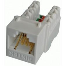 Hạt mạng DINTEK - ổ cắm thoại RJ11 Keystone Jack, Cat.3 un 1305-01006