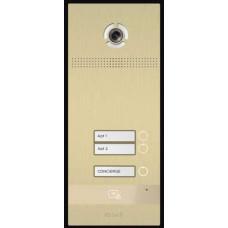 Bản gọi cửa kích thước không có màn hình, nút nhấn cơ 2 nút Bas-IP BI-02FB GOLD