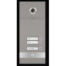 Bản gọi cửa kích thước không có màn hình, nút nhấn cơ 2 nút Bas-IP BI-02FB SILVER