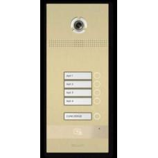 Bản gọi cửa kích thước không có màn hình, nút nhấn cơ 4 nút Bas-IP BI-04FB GOLD