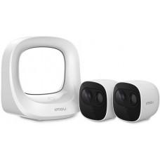 Bộ KIT IMOU dùng PIN 2 camera + 1 Hub (thiết bị trung tâm) Dahua IMOU-KIT-WA1001-300/2-B26EP