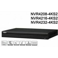 Đầu ghi hình dòng Lite hỗ trợ 2 ổ cứng 8 kênh IP Dahua model NVR4208-4KS2