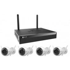 Bộ camera Ezviz Wifi KIT (4 camera + 1 đầu ghi 4) CS-BW3424B0-E40