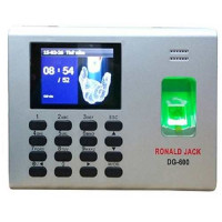 Máy chấm công vân tay + pin lưu điện Ronald Jack DG600