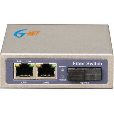 1 port 10/100M POE Switch G-Net model G-PMC-1FX1TP-SC20S