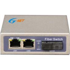 1 port 10/100M POE Switch G-Net model G-PMC-1FX1TP-SFP