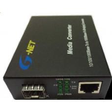 Converter 10/100M loại 2 sợi quang sử dụng cho internet và Camera IP G-Net G-UMC-1FX1TX-SFP