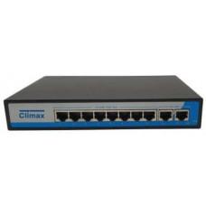 Bộ chia mạng POE Climax 8 cổng POE 10/100/1000 + 2 cổng UPLINK 10/100/1000 CL-PE1000-8P2/56