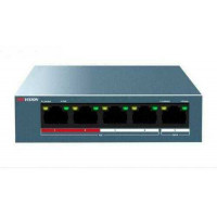 Switch mạng 4 cổng POE 100M , 1 cổng uplink 10/100M , Layer 2 Hikvision DS-3E0105P-E/M(B)