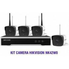 TRỌN BỘ (4 CAMERA 1 Đầu ghi ) KIT WIFI Hikvision NK42W0