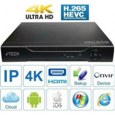 Đầu ghi IP J-Tech HD6032 ( 4K / H265+ / 4Sata )