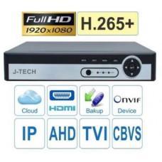 Đầu ghi hình hybrid J-TECH UHY6516 ( H.265+ / 2K / 5MP )