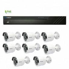 Bộ kit đầu ghi và camera IP KBVision KIT 8 Gồm: KX-K2001N2 - 8cái + KX-K8108PN2 - 1cái