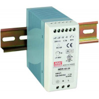 Bộ Nguồn Mean Well 40W DC24V/1.7A Din Rail Industrial Power Supply MDR-40-24