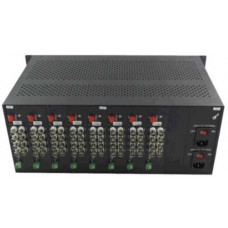 19 inch 2U Rack-mount 18slot , Dual Power DC48V , for converter card B& TON BT-4U-D48