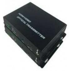 Bộ chuyển DVI+KVM , 2.5G , RS232 , sang quang DVI+KVM , 2.5G , RS232 , SF SM 10KM , 1080P B&TON BT-503KVML-10T/R