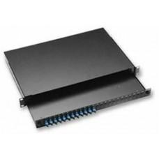 Khay tủ rack gắn cáp quang AMP , 1U , Duplex SC , 12-Fiber , MM 2-1206138-4