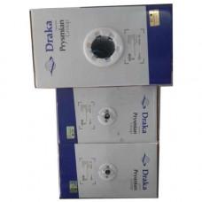 Cáp mạng Draka 60020BL : Cáp U/UTP, Cat.6, 4 đôi, CM (PVC), 23 AWG, Solid, màu xanh dương, 305m