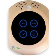 Công Tắt Thông minh với trung tâm an ninh và an toàn (chất liệu kính/kimloại với cảm biến chạm) hiệu Onsky model OS-LSW-121-Gold