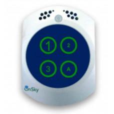 Công Tắt Thông minh với trung tâm an ninh và an toàn (chất liệu kính/kimloại với cảm biến chạm) hiệu Onsky model OS-LSW-123-Gold