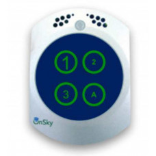 Công Tắt Thông minh với trung tâm an ninh và an toàn (chất liệu kính/kimloại với cảm biến chạm) hiệu Onsky model OS-LSW-123-Silver