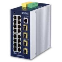 Bộ chia mạng công nghiệp Planet L3 16- port 100/1000 + 4 Port SFP IGS-20040MT