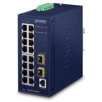 Bộ chia mạng công nghiệp Planet L2/L4 18 Port 100/1000 + 2-Port SFP IGS-4215-16T2S