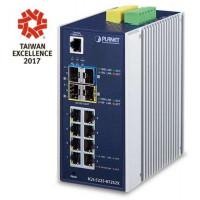 Bộ chia mạng công nghiệp Planet L3 8 Port 100/1000 PoE + 2- Port SFP +2 Port SFP+ IGS-5225-8P2S2X