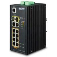 Bộ chia mạng công nghiệp Planet 8 Port 100/1000 PoE + 2 Port SFP IGS-5225-8P2T2S