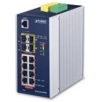 Bộ chia mạng công nghiệp Planet 8 Port 100/1000 PoE 4 on SFP IGS-5225-8P4S