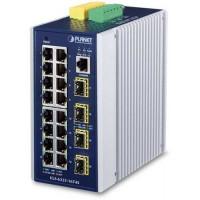 Bộ chia mạng công nghiệp Planet L2 16- port 100/1000 + 4-Port SFP IGS-6325-16T4S