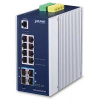 Bộ chia mạng công nghiệp Planet L3 8 Port 100/1000 + Port SFP+ 4- port SFP IGS-6325-8T8S4X