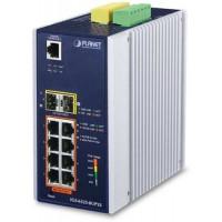 Bộ chia mạng công nghiệp Planet L2 8 Port 100/1000 PoE 2 Port SFP + Shemer IGS-6325-8UP2S