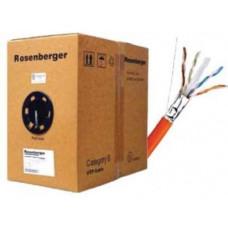 Cáp FTP Indoor , Cat.6 , 4 đôi , CM PVC LAN CABLE , 23 AWG , Solid , xám , 305m Rogenberger CP11-241-12