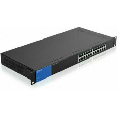 Bộ chia mạng Unmanaged Gigabit 24-port switch with 12 PoE+ ports LINKSYS LGS124P-AP