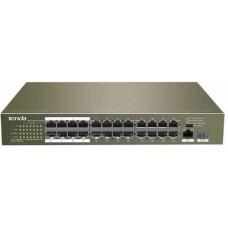 Bộ chia mạng kèm nguồn POE hiệu TENDA TEF1126P 24 cổng POE
