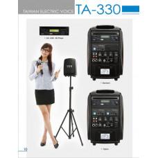 Tăng âm liền loa 60w  (có 1 micro không dây cầm tay, 1 ổ CD, có đường vào USB, SD) thương hiệu TEV model TA-330