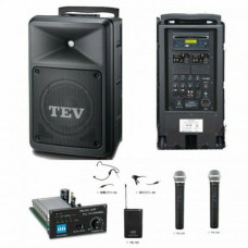 Tăng âm liền loa 200w  (có 2 micro không dây cầm tay, 1 ổ CD, có đường vào USB, SD) thương hiệu TEV model TA-680