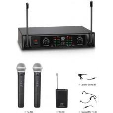 Bộ micro không dây cầm tay (2 mic) thương hiệu TEV model TR-826