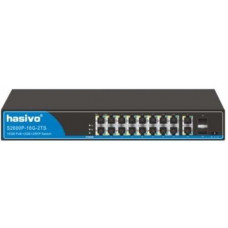 Switch PoE Gigabit 10/100/1000 HASIVO S2600P-16G-2TS