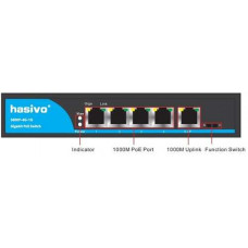Switch PoE Gigabit 10/100/1000 HASIVO S600P-4G-1G