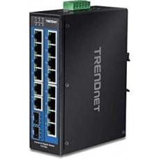 16-Port Hardened Industrial Gigabit DIN-Rail Switch Trendnet TI-G162