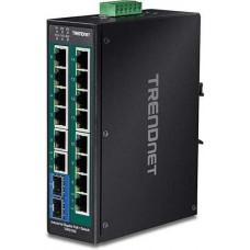 16-Port Hardened Industrial Gigabit PoE + DIN-Rail Switch Trendnet TI-PG162