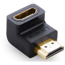 Bộ chuyển đổi down HDMI 90° đực ra cái model 20109 đen Ugreen 20109
