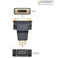 Bộ chuyển đổi HDMI đực ra DVI cái model 20123 đen Ugreen 20123