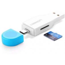 Đồ đọc thẻ OTG / USB Dual port model 30358 trắng trắng Ugreen 30358