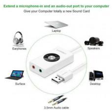 Bộ chuyển đổi USB 2.0 External Stereo Sound model 30448 trắng trắng Ugreen 30448