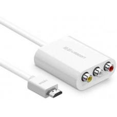 Bộ chuyển đổi HDMI ra AV model 30452 trắng 1M Ugreen 30452